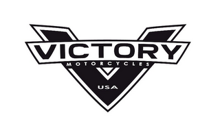 mark for V VICTORY MOTORCYCLES USA, trademark #85550806