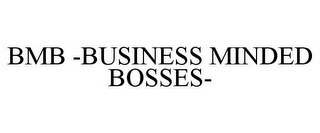 mark for BMB -BUSINESS MINDED BOSSES-, trademark #85551844