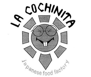 mark for LA COCHINITA JAPANESE FOOD FACTORY, trademark #85552147