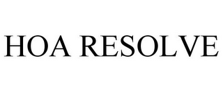 mark for HOA RESOLVE, trademark #85552463