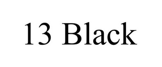 mark for 13 BLACK, trademark #85552842
