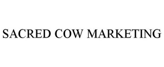mark for SACRED COW MARKETING, trademark #85553399