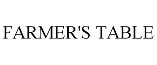 mark for FARMER'S TABLE, trademark #85553833