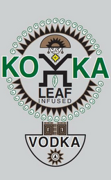 mark for KOKA LEAF INFUSED VODKA, trademark #85553909