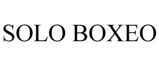 mark for SOLO BOXEO, trademark #85553937