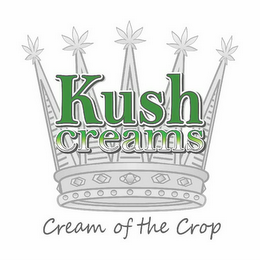 mark for KUSH CREAMS CREAM OF THE CROP, trademark #85554175