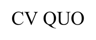 mark for CV QUO, trademark #85554477