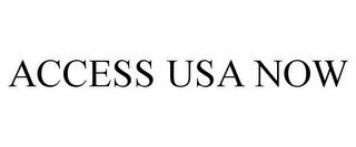 mark for ACCESS USA NOW, trademark #85554587