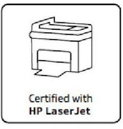 mark for CERTIFIED WITH HP LASERJET, trademark #85554639