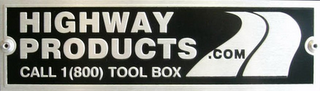 mark for HIGHWAY PRODUCTS .COM CALL 1 (800) TOOL BOX, trademark #85555026