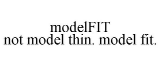 mark for MODELFIT NOT MODEL THIN. MODEL FIT., trademark #85555275