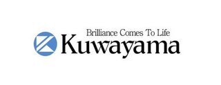 mark for K BRILLIANCE COMES TO LIFE KUWAYAMA, trademark #85555422