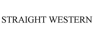 mark for STRAIGHT WESTERN, trademark #85555816