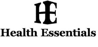mark for HE HEALTH ESSENTIALS, trademark #85555947