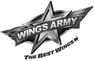 mark for WING'S ARMY THE BEST WINGS, trademark #85556446