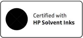 mark for CERTIFIED WITH HP SOLVENT INKS, trademark #85556659