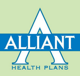 mark for A ALLIANT HEALTH PLANS, trademark #85556667