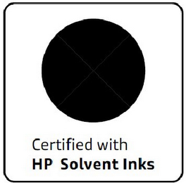 mark for CERTIFIED WITH HP SOLVENT INKS, trademark #85556680