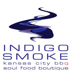 mark for INDIGO SMOKE KANSAS CITY BBQ SOUL FOOD BOUTIQUE, trademark #85556762