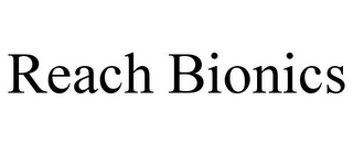 mark for REACH BIONICS, trademark #85557563
