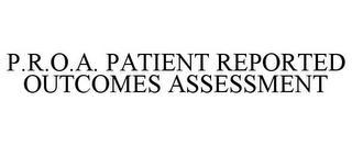mark for P.R.O.A. PATIENT REPORTED OUTCOMES ASSESSMENT, trademark #85557601