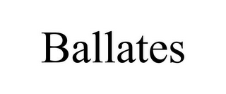 mark for BALLATES, trademark #85557727