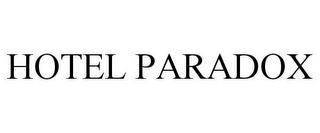 mark for HOTEL PARADOX, trademark #85558119