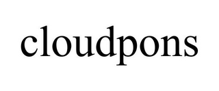 mark for CLOUDPONS, trademark #85558142