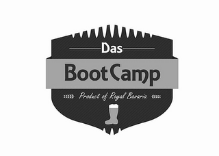 mark for DAS BOOT CAMP PRODUCT OF ROYAL BAVARIA, trademark #85558402