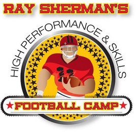 mark for RAY SHERMAN'S HIGH PERFORMANCE & SKILLS FOOTBALL CAMP, trademark #85558524