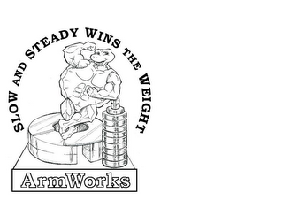 mark for SLOW AND STEADY WINS THE WEIGHT ARMWORKS, trademark #85560194