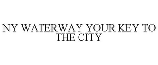 mark for NY WATERWAY YOUR KEY TO THE CITY, trademark #85560401