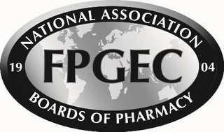 mark for FPGEC 1904 NATIONAL ASSOCIATION BOARDS OF PHARMACY, trademark #85561855