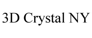 mark for 3D CRYSTAL NY, trademark #85562108
