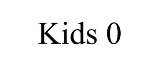 mark for KIDS 0, trademark #85562811