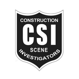 mark for CSI CONSTRUCTION SCENE INVESTIGATORS, trademark #85566193