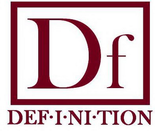 mark for DF DEF·I·NI·TION, trademark #85566355