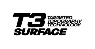 mark for T3 SURFACE TARGETED TOPOGRAPHY TECHNOLOGY, trademark #85566642