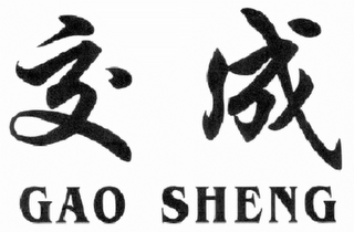 mark for GAO SHENG, trademark #85566964