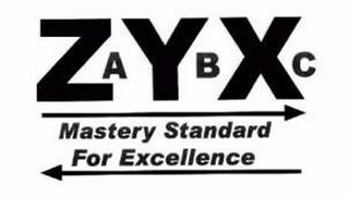 mark for ZYX ABC MASTERY STANDARD FOR EXCELLENCE, trademark #85567053
