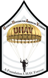 mark for ULTIMATE HUNTING FOR AMERICAN VETERANS UHAV A FOUNDATION UHAV FOREVER, trademark #85567195