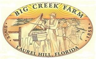 mark for BIG CREEK FARM LAUREL HILL, FLORIDA ·SINCE· ·1858·, trademark #85567282