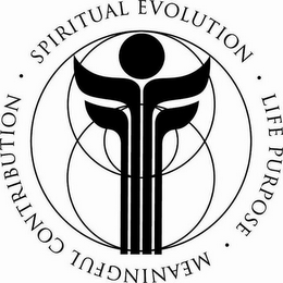 mark for SPIRITUAL EVOLUTION · LIFE PURPOSE · MEANINGFUL CONTRIBUTION ·, trademark #85568522