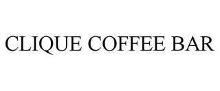 mark for CLIQUE COFFEE BAR, trademark #85569189