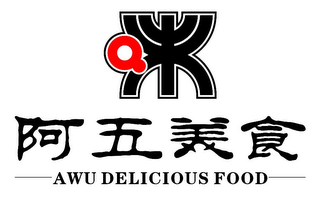 mark for AWU DELICIOUS FOOD, trademark #85571612