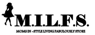 mark for M.I.L.F.S. MOMS IN-STYLE LIVING FABULOUSLY STORE, trademark #85571841