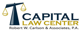 mark for CAPITAL LAW CENTER, ROBERT W. CARLSON &ASSOCIATES, P.A., trademark #85571986