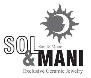 mark for SOL & MANI SUN & MON EXCLUSIVE CERAMIC JEWELRY, trademark #85572769