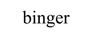 mark for BINGER, trademark #85572949