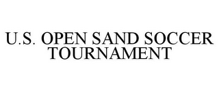mark for U.S. OPEN SAND SOCCER TOURNAMENT, trademark #85572987